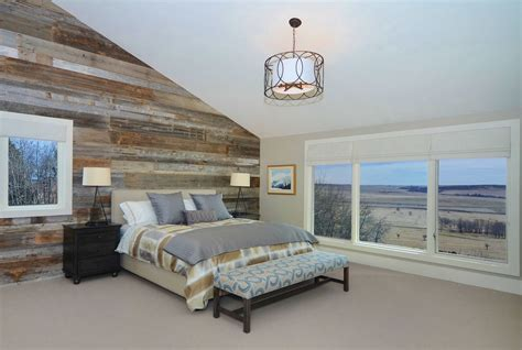 wood wall bedroom reclaimed wood wall bedroom contemporary with custom bench