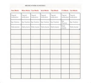 pill calendar template medication schedule template 8 free word excel pdf