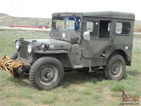 first willys 1951 us army jeep willys military original overland jeep