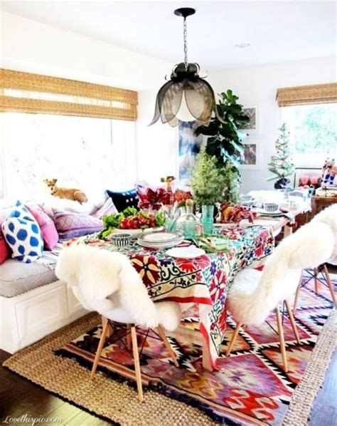 Boho Home Decor Ideas by 39 Original Boho Chic Dining Room Designs Digsdigs