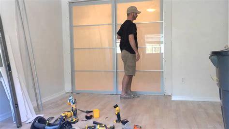 Sliding Door Panel Curtains Ikea Sekken Door Hack Youtube