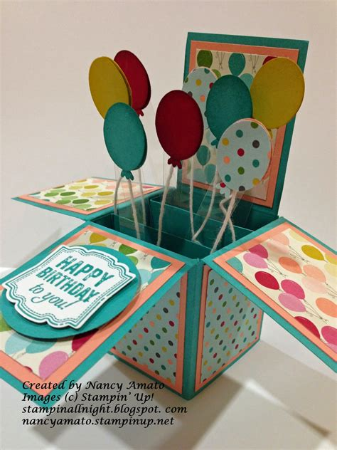 birthday card in a box template stin all cards in a box