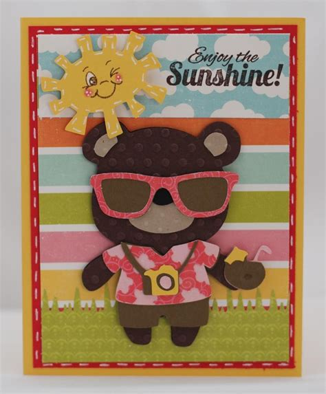 cricut enjoy card template how to 17 best images about cricut teddy parade on