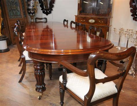 Mahogany victorian table and chair set dining suite