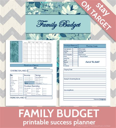 printable family budget planner printables gallery