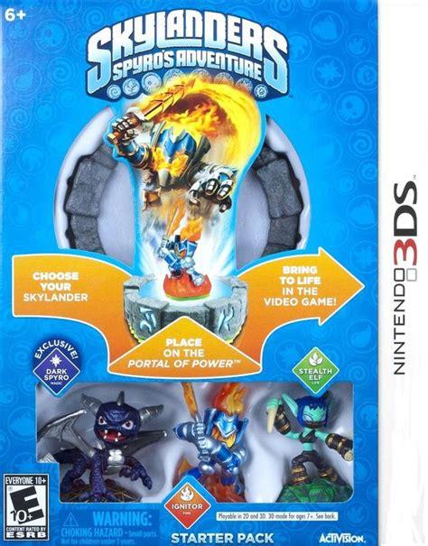 Skylander Spyros Adventures Wii skylanders spyro s adventure box for 3ds gamefaqs