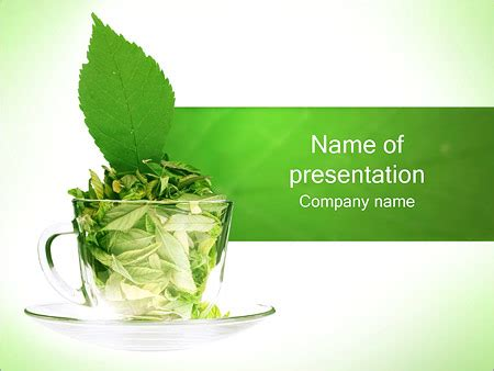 Green Tea Powerpoint Template Backgrounds Id 0000001263 Tea Ppt Template Free