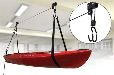 2x kayak hoist bike lift pulley system garage ceiling