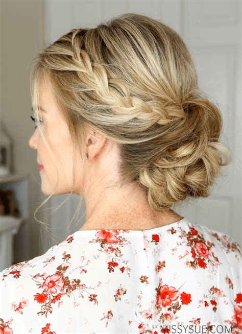 prom hairstyles lace double lace braids updo missy sue