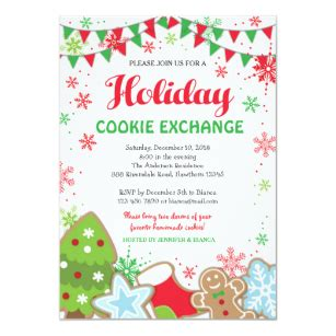 Cookie Exchange Invitations Zazzle Cookie Invitations Templates