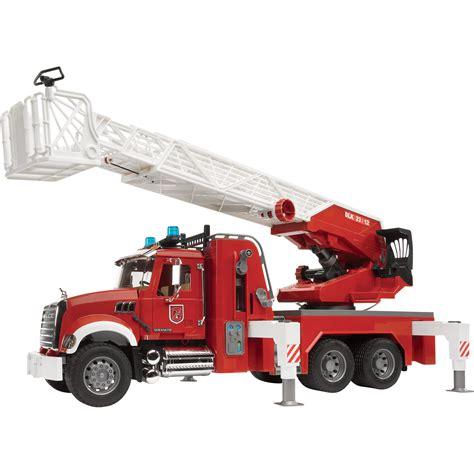 bruder trucks bruder mack granite engine with water