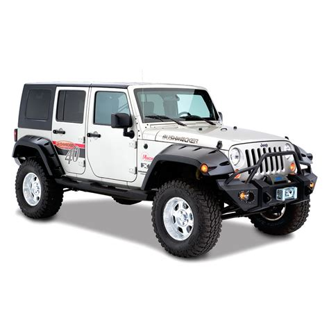 jeep fenders bushwacker 174 jeep wrangler 2013 pocket style fender flares