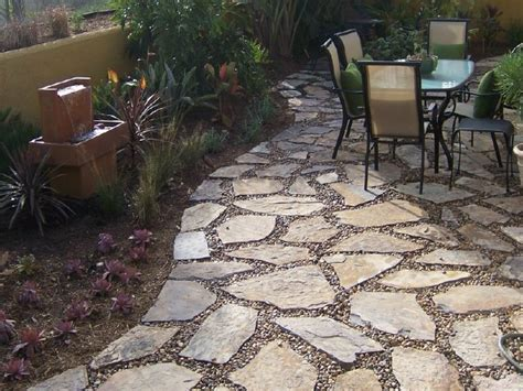 Pea Gravel Backyard by Patio Design Landscaping With Pea Gravel Flagstone