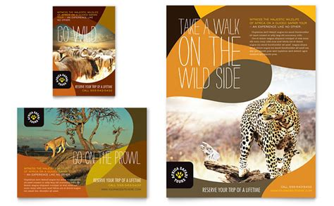 Zoo Brochure Template by Safari Flyer Ad Template Design