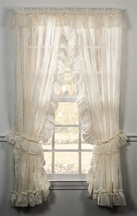 ruffled priscilla window curtains beverly ruffled priscilla panels ellis ellis drop ship items