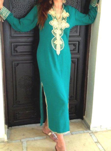 Aisha Kaftan Dress emerald green moroccan caftan dress aisha style