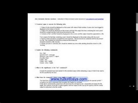 linux tutorial questions qa testing training interview questions unix linux