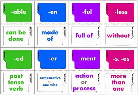 printable word definition games 17 best images about prefix and suffix on pinterest
