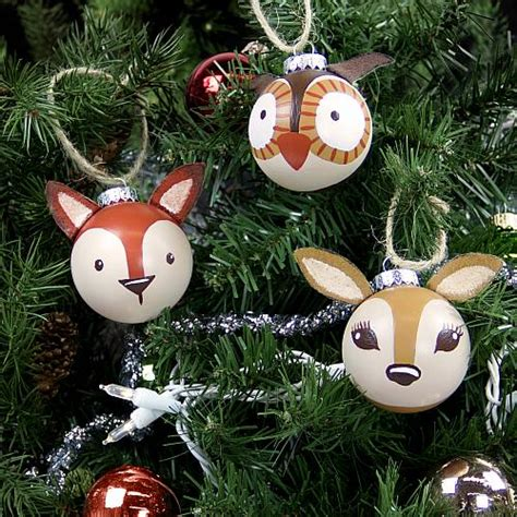 3 d painted woodland ornaments project by decoart