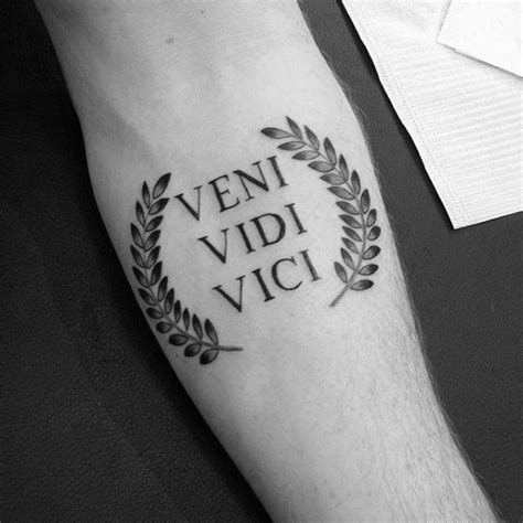 tattoo quotes roman 60 veni vidi vici tattoo designs for men julius caesar