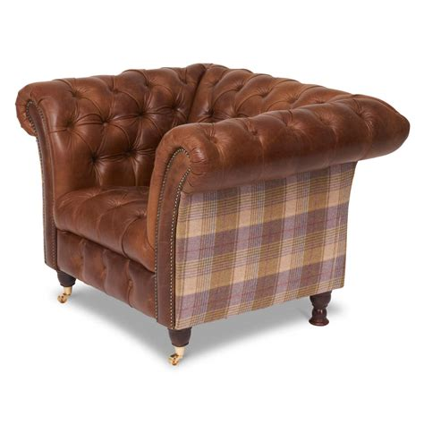 Harris Tweed Or Vintage Leather Chesterfield Sofa By The Tweed Chesterfield Sofa