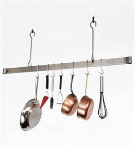 Hanging Bar Pot Rack Sleek Ceiling Bar Hanging Pot Rack In Hanging Pot Racks