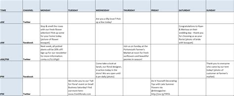 How To Create And Manage A Social Media Schedule In 3 Easy Steps Constant Contact Blogs Creating A Social Media Plan Template