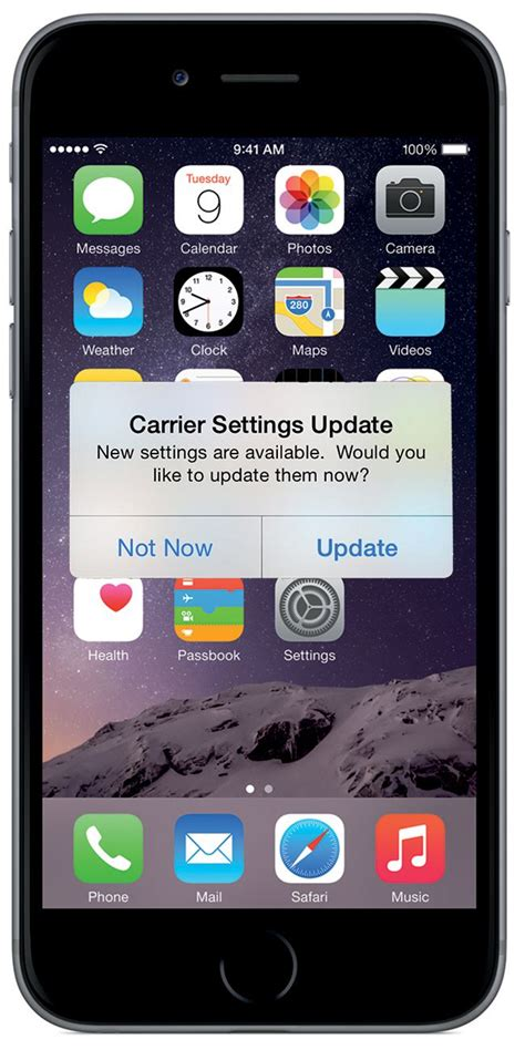 update  iphone carrier settings