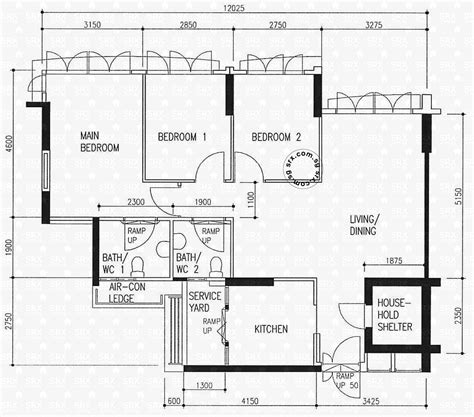 hdb floor plan floor plans for yishun avenue 11 hdb details srx property