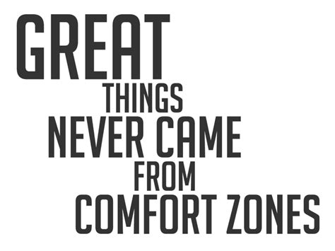 great things never came from comfort zones wandtattoo great things never came from comfort zones von