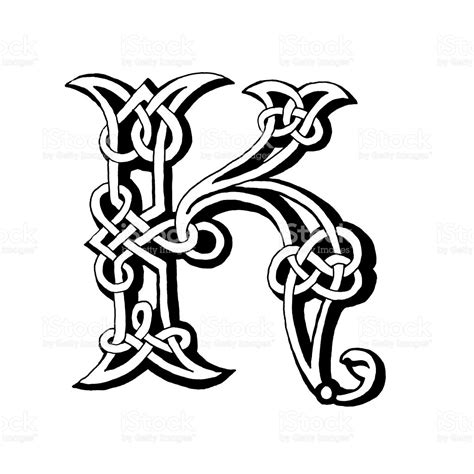 celtic letter k stock vector art amp more images of alphabet