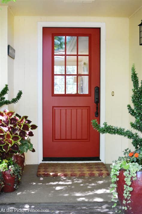 Farmhouse Entry Door by Before And After Dining Room Makeover At The Picket Fence