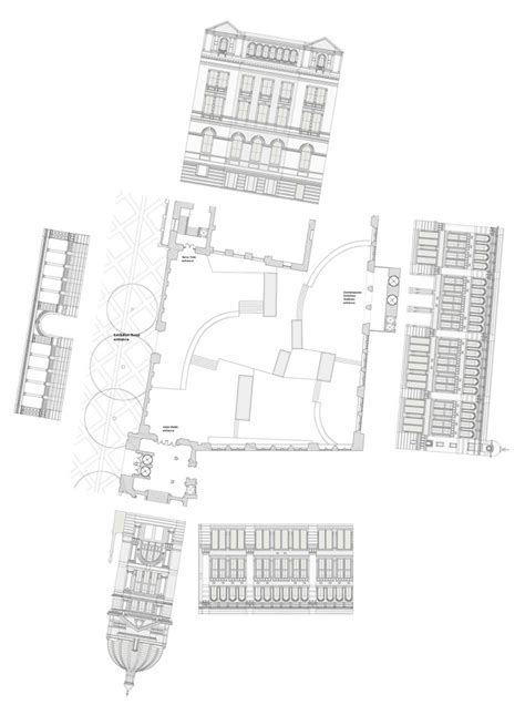 and albert museum floor plan v a exhibition road fobert architects