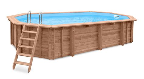 swimming pool holz holzpool 7x4m schwimmbecken 8 eck pool holz bausatz