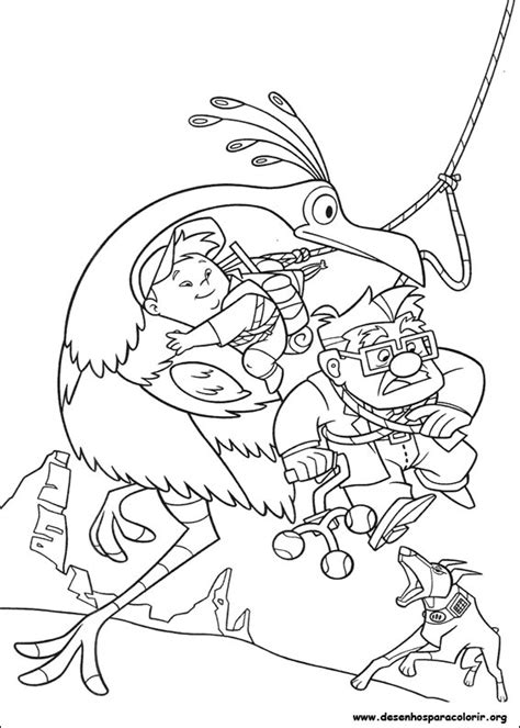 Coloring Page Up House by Up Altas Aventuras Para Colorir