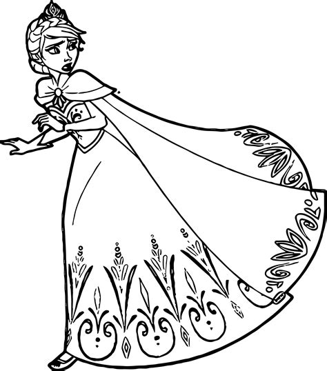 queen elsa coloring pages free elsa queen run coloring page wecoloringpage