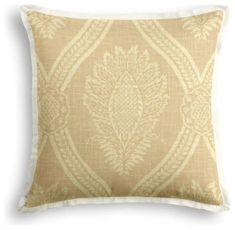 Traditional Pillows by Ivory Medallion Trellis Tailored Throw Pillow