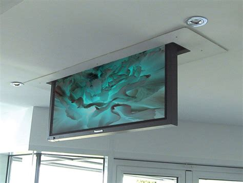 Ceiling Mounted Tv Lift by Retractable Tv Into The Ceiling Sala De Estar