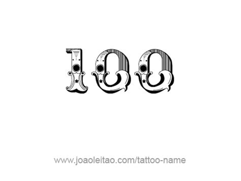 hundred 100 number tattoo designs tattoos with names