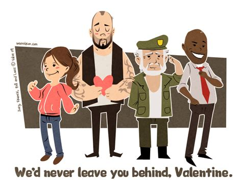 left 4 dead valentines tastic left 4 dead valentines cards mix zombies