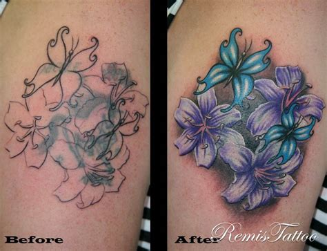 flower tattoo cover up designs cover flickrphoto black tattoos