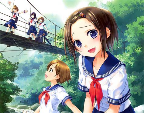 imagenes japonesas en anime fondos de pantalla puentes ginta colegiala lindo anime