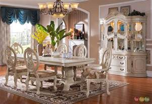 tuscany elegant 7 piece traditional white formal dining elegant dining room sets home decorating ideas