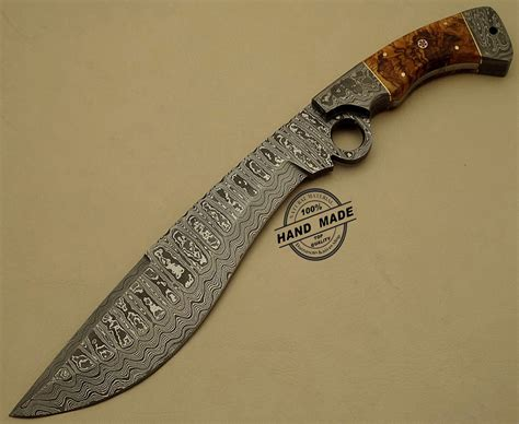 Handmade Knife - professional damascus finger knife custom handmade