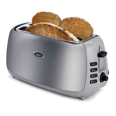 Toaster Oven With Slots On Top Oster 4 Slice Slot Toaster Brushed Stainless Steel