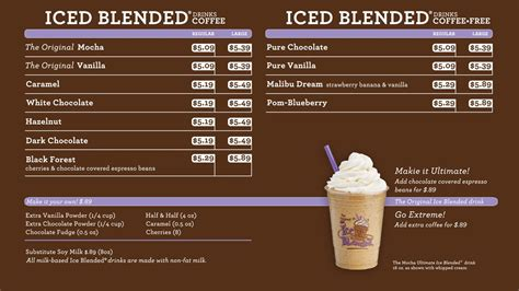 Menu Coffee Bean Indonesia coffee house menu board coffee bean and tea leaf digital