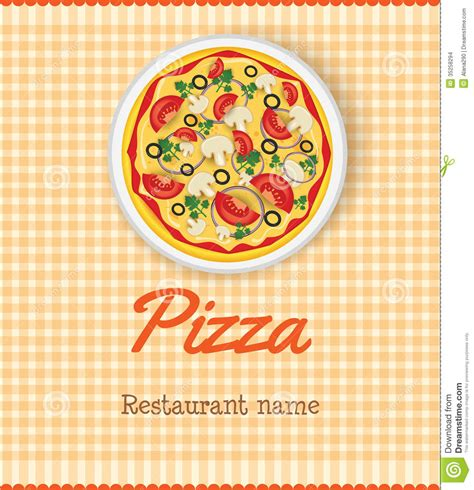 menu template with pizza stock vector image of olive