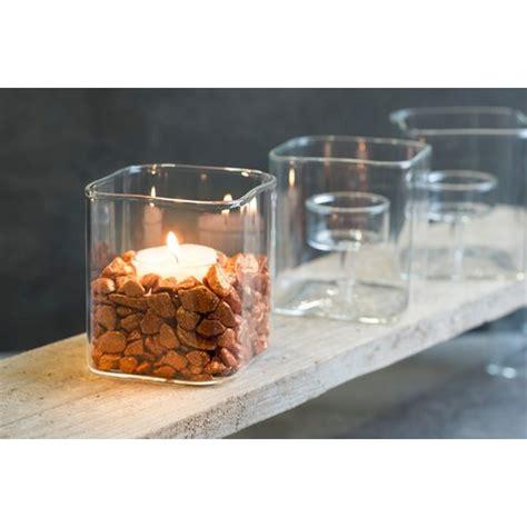 kerzenhalter glas eckig glas kerzenhalter shine klar eckig 10 cm 216 8 0 x 8 0 cm sa