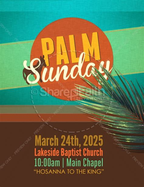 Flyer For Palm Sunday Template Flyer Templates Sunday School Flyer Template