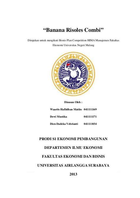 makalah rencana format pendokumentasian contoh cover proposal rencana bisnis contoh ii
